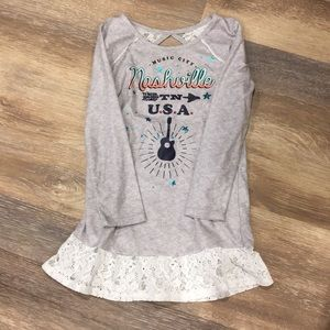 American Girl nightgown with matching doll gown